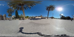 360 view from Torres de Serranos Stock Footage