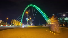 Bridge in Astana Stock Footage