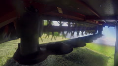 Machine for grass cutting is moving very fast and is very sharp Stock Footage