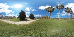 360 view from Turia gardens Stock Footage