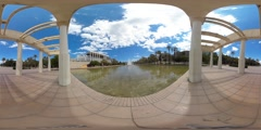 360 view from the Palau de la Musica Stock Footage