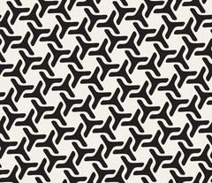 Vector Seamless Rounded Lines Geometric Pattern Stock Illustration