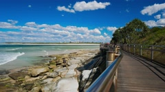 Hot sunny day at Kings Beach Caloundra, Queensland, Australia Stock Footage