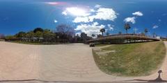 360 view from Pont de les Flors Stock Footage