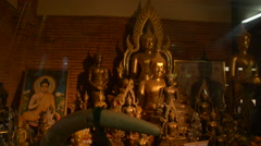 Chiang Mai, Thailand Buddhist Temple Art Gallery Stock Footage