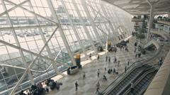 Baku, Azerbaijan - August 16, 2016: Heydar Aliev international Airport Stock Footage