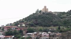 Cableway in Tbilisi, Georgia Stock Footage