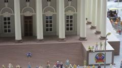 Center of Sankt Petersburg and rastralnye column Stock Footage