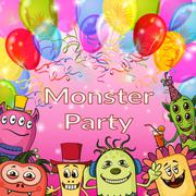 Cartoon Monsters Background Stock Illustration