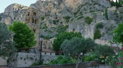 Moustiers Sainte Marie Small French Town Traditional Village In France Stock Footage
