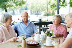 Elderly friends Stock Photos