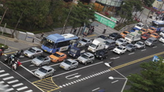 Timelapse of transport traffic in Seoul, South Korea Stock Footage