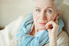 Serious granny Stock Photos