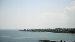 Coastal Town near a Bay Stock Footage
