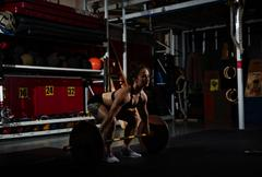 Young weightlifter Stock Photos