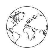 Planet earth sphere design Stock Illustration