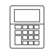 Calculator tool instrument design Stock Illustration