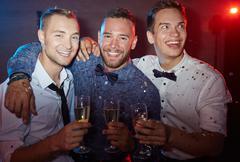 Elegant young men Stock Photos