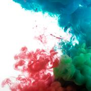 Abstract color paint in water Stock Photos