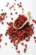 Red peppercorn seeds Stock Photos
