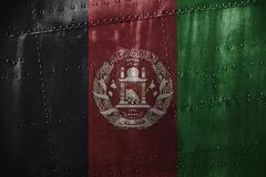 Metal texutre or background with Afghanistan flag Kuvituskuvat
