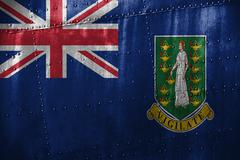 Metal texutre or background with Virgin Islands, GB flag Kuvituskuvat