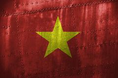 Metal texutre or background with Vietnam flag Stock Photos
