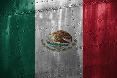 Metal texutre or background with Mexico flag Kuvituskuvat