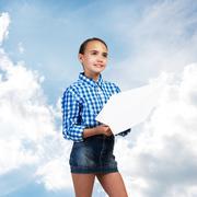 Happy careless childhood Stock Photos