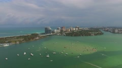 Aerial Shot of the Miami City Stock Footage