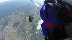 Skydiving in Norway Stock Footage