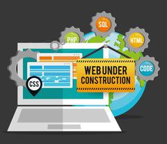 Site under construction design Stock Illustration