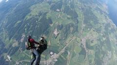 Skydiving in Norway Arkistovideo