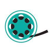 Film reel cinema movie design Stock Illustration
