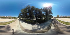 360 view from the Turia gardens Stock Footage