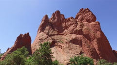 Garden of the Gods Stock Footage