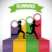 Runner athlete running design Piirros