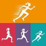Runner athlete running design Stock Illustration