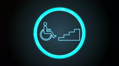 Bluish Accessibility Icon with digital code Stock Footage
