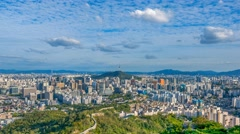 Time lapse of Seoul City Skyline,South Korea. Stock Footage