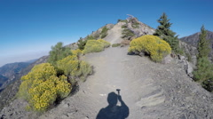Shadow Climbing Mt Baldy in the San Gabriel Mountains Stock Footage