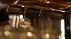 Brewer pours beer Stock Footage