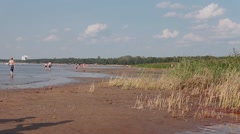 Not Equipped beach on the Gulf of Finland Stock Footage