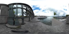 360 view from the zürichsee Stock Footage