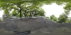 360 view from the Lindenhof in Zurich Stock Footage