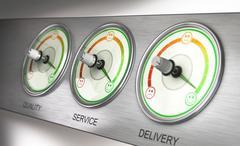 Customer Satisfaction Terminal Stock Illustration