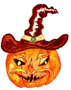 Halloween Pumpkin Art Stock Illustration