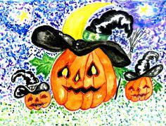 Halloween Pumpkin Art Stock Illustration
