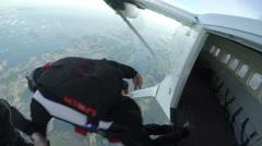Skydiving in Norway Stock Footage