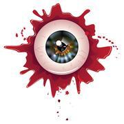 Halloween Bloody Eyeball Stock Illustration